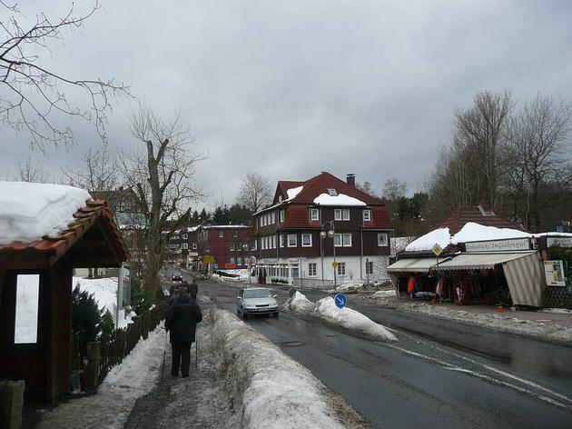 Centrum dolnosaského města Braunlage. 27.2.2010 © Tomáš Kraus