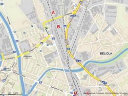 PJ Olomouc na plánu města; zdroj: www.mapy.cz - ZOBRAZ!