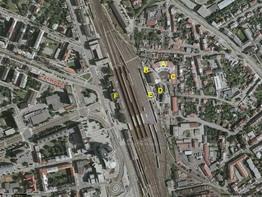 Motorová remíza PJ Olomouc na fotomapě; zdroj: www.mapy.cz - ZOBRAZ!
