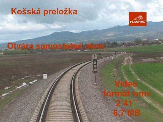 Preložka železničnej trate pri obci Koš. Video 2´41´´ 6,7 MB © Ivan Wlachovský