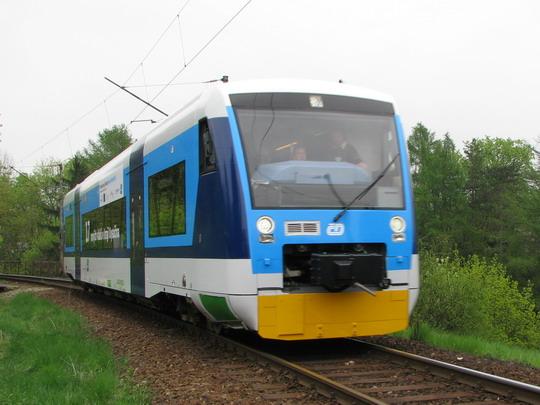 Regio-Shuttle mezi stanicemi Jihlava a Jihlava město © PhDr. Zbyněk Zlinský