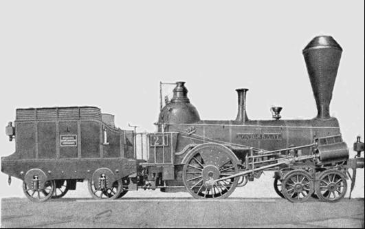 """Rušeň """"KÖNIGSSAAL"""" s usporiadaním pojazdu 2´A """"Philadelphia"""" z roku 1846, výrobca Günther VNM"""