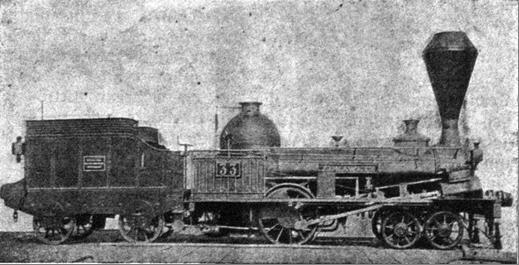 """Rušeň """"LUKAWETZ"""" s usporiadaním pojazdu 2´A """"Philadelphia"""" z roku 1845, výrobca Cockerill Seraing."""