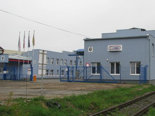 Vstupní část provozovny CZ LOKO Jihlava © PhDr. Zbyněk Zlinský