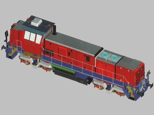 Vizualizace možné podoby lokomotivy řady 744; zdroj: CZ LOKO, a.s.