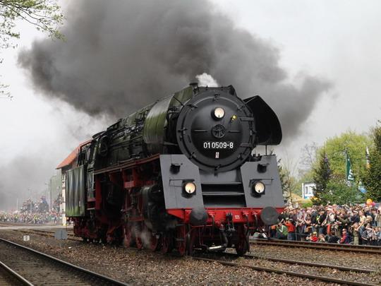 Předváděcí jízda stroje 01 509 z Německa © Jan Guzik
