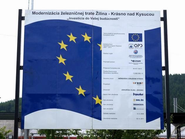 Povinné označenie každej stavby podporenej Európskou úniou © Radovan Plevko