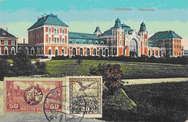 Pôvodná železničná stanica Tiskej železnice v Debrecene, pohľad z ulice.