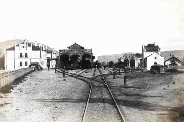 Pôvodná železničná stanica Tiskej železnice v Košiciach, pohľad do koľajiska.