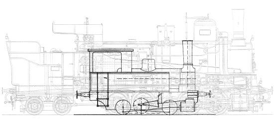 Srovnání velikosti krompašské a tisovecké lokomotivy