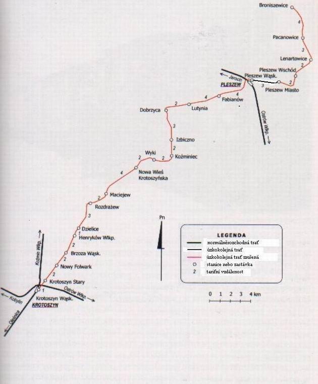 Mapa Pleszewske Koleji Lokalne