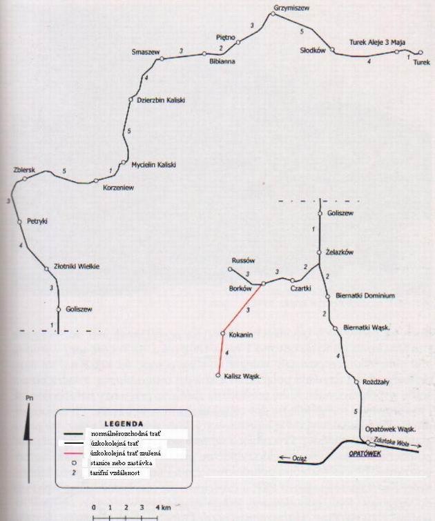 Mapa Kaliske Koleji Dojazdowe