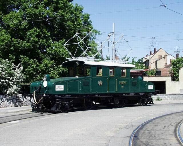 Zrekonštrouvaný rušeň Eg 5 v Brne. Rekonštrukcia robená v roku 2000 pre tramway museum Mariazell. Zdroj: Dráh-servis.