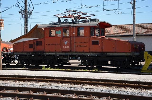 Rušeň Eg 6 ako E 22.004 v Eferdingu, máj 2011.Zdroj: Klub priateľov mestskej hromadnej a regionálnej dopravy.