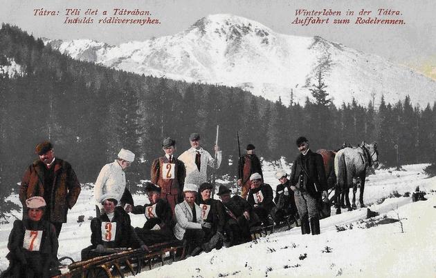 Zimný šport vo Vysokých Tatrách (1912). Zbierka Ing. Juraj Horváth