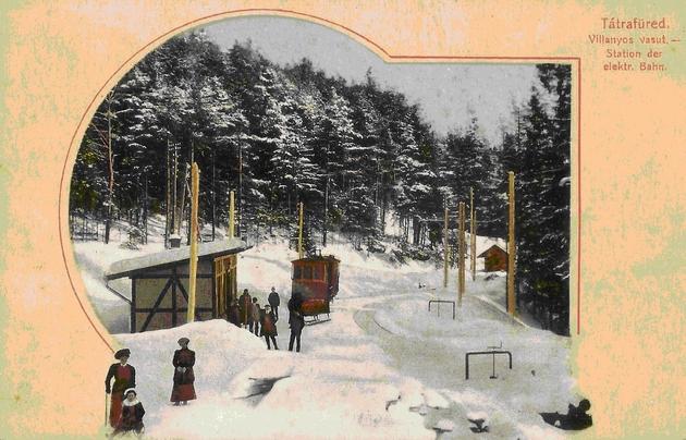 Prabdepodobne zastávka Dolný Smokovec (1919). Zbierka Ing. Juraj Horváth