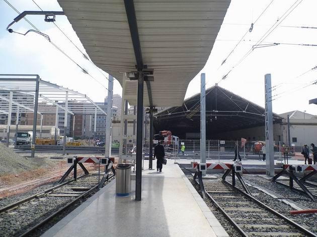 Alicante/Alacant: celkový pohled na rozestavěné nádraží Terminal. 16.4.2013 © Jan Přikryl