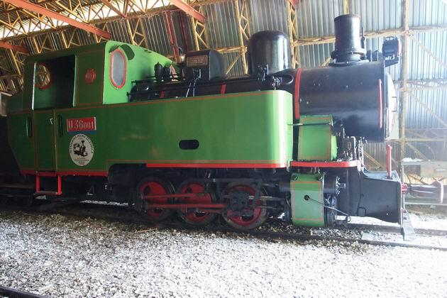 Lokomotíva U36.001 od firmy ČKD- hlavný predmet môjho záujmu na NPŽ (foto: Lukáš Patera)