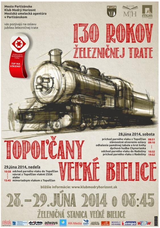 130 rokov trate Veľké Bielice - Topoľčany