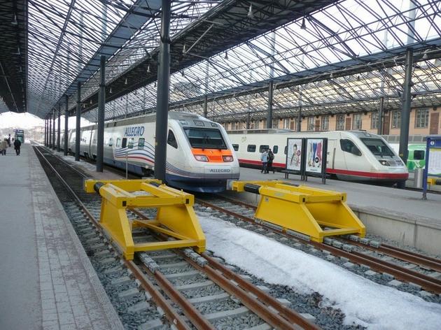 Helsinki: jednotky řady Sm6 a Sm3 © Tomáš Kraus, 21.3.2012