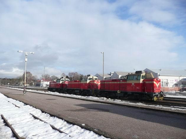 Hanko: motorové lokomotivy řady Dv12 © Tomáš Kraus, 19.3.2012