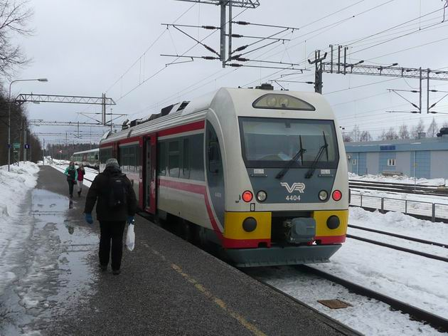 Karjaa: motorový vůz řady Dm12 je připraven k odjezdu © Tomáš Kraus, 19.3.2012