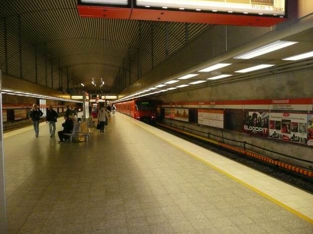 Helsinki: stanice metra Hakaniemi je jedna z nejstarších © Tomáš Kraus, 10.6.2009